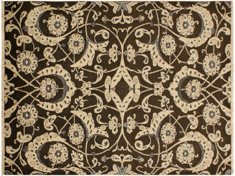 "A09075, 4' 1"" X  6' 2"",Modern     ,4' x 6',Brown,BEIGE,Hand-knotted                  ,Pakistan   ,100% Wool  ,Rectangle  ,652671174094"
