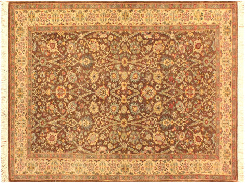 "A09087, 3' 1"" X  5' 1"",Transitional                  ,3' x 5',Brown,IVORY,Hand-knotted                  ,Pakistan   ,100% Wool  ,Rectangle  ,652671174216"
