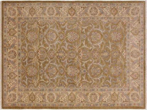 "A09092, 5' 9"" X  7'10"",Transitional                  ,6' x 8',Gold,IVORY,Hand-knotted                  ,Pakistan   ,100% Wool  ,Rectangle  ,652671174261"