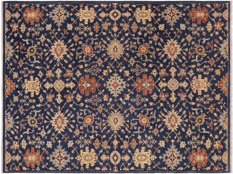 "A09101, 9' 0"" X 11'11"",Modern     ,9' x 12',Blue,ORANGE,Hand-knotted                  ,Pakistan   ,100% Wool  ,Rectangle  ,652671174353"