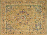 "A09111, 8'11"" X 12' 9"",Vintage                       ,9' x 13',Tan,GRAY,Hand-knotted                  ,Pakistan   ,100% Wool  ,Rectangle  ,652671174452"