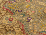 "A09119 9' 9"" X 12'10""Vintage                       10x13'GreyBROWNHand-knotted                  Pakistan   100% Wool  Rectangle  652671174537"