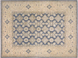handmade Transitional Kafkaz Gray Ivory Hand Knotted RECTANGLE 100% WOOL area rug 12x14'
