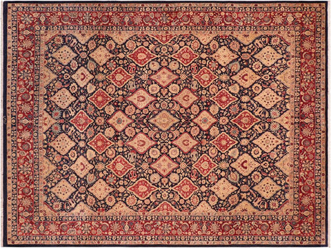 handmade Traditional Kirman Blue Red Hand Knotted RECTANGLE 100% WOOL area rug 8x10 Hand knotted indoor Pak Persian vegetable dyed area rug made for all rooms with high quality New Zealand wool in rich color pallet weaved by skilled artisans in traditional transitional design known for quality and affordable price. Oriental rug offered at cheap discount for any decor, with Persian weave(KPSI upto 300)
