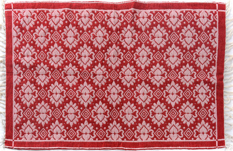 "A09379, 3'10"" X  5'10"",Transitiona,4' x 6',Red,PINK,Hand-woven                    ,Pakistan   ,100% Wool  ,Rectangle  ,652671177132"