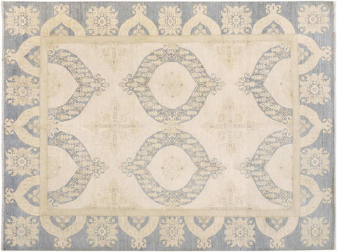 "A09394, 8' 8"" X 11'10"",Transitiona,9' x 12',Natural,GRAY,Hand-knotted                  ,Pakistan   ,Wool&silk  ,Rectangle  ,652671177286"