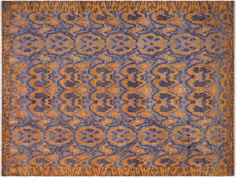 "A09419, 7' 7"" X 10' 0"",Modern                        ,8' x 10',Blue,GOLD,Hand-knotted                  ,Pakistan   ,100% Wool  ,Rectangle  ,652671177538"