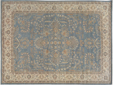 handmade Traditional Kafkaz Gray Ivory Hand Knotted RECTANGLE 100% WOOL area rug 10x14'