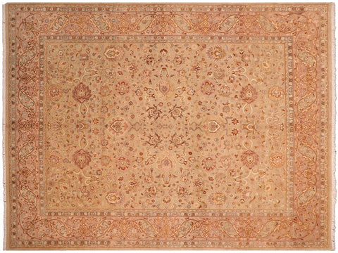 "A00946, 8' 4"" X 10' 4"",Traditional                   ,8' x 10',Green,TAN,Hand-knotted                  ,Pakistan   ,100% Wool  ,Rectangle  ,652671130588"