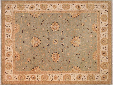 "A09515, 8' 0"" X 10' 5"",Traditional                   ,8' x 10',Grey,IVORY,Hand-knotted                  ,Pakistan   ,100% Wool  ,Rectangle  ,652671178498"