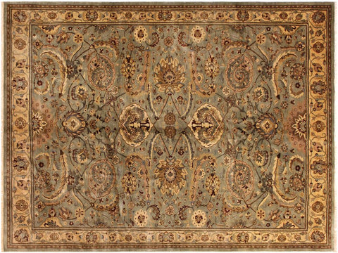 "A00951, 8' 0"" X 10' 0"",Traditional                   ,8' x 10',Grey,GOLD,Hand-knotted                  ,Pakistan   ,100% Wool  ,Rectangle  ,652671130632"