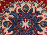 "A09528 2' 7"" X  9' 9""Geometric                     3x10'RedIVORYHand-knotted                  Pakistan   100% Wool  Runner     652671178627"