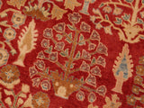 "A00964, 8' 2"" X 10' 0"",Transitional                  ,8' x 10',Red,TAN,Hand-knotted                  ,Pakistan   ,100% Wool  ,Rectangle  ,652671130762"