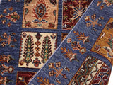 "A09690, 2' 9"" X  8' 4"",Geometric                     ,3' x 8',Blue,RED,Hand-knotted                  ,Pakistan   ,100% Wool  ,Runner     ,652671181429"