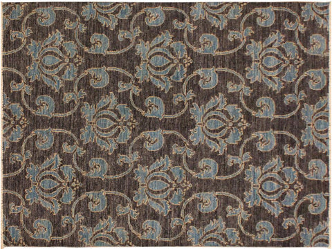 "A09715, 4' 0"" X  6' 1"",Modern     ,4' x 6',Grey,PURPLE,Hand-knotted                  ,Pakistan   ,100% Wool  ,Rectangle  ,652671179525"