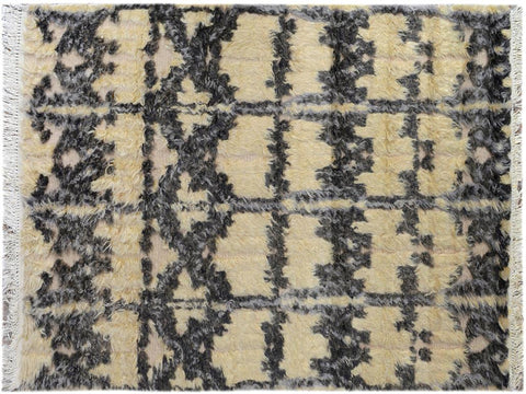 "A09726, 4' 1"" X  5' 9"",Modern                        ,4' x 6',Beige,BLACK,Hand-knotted                  ,Pakistan   ,100% Wool  ,Rectangle  ,652671182068"