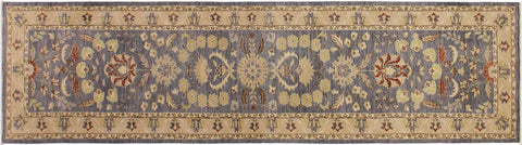 "A09731, 2'10"" X 11' 9"",Transitional                  ,3' x 12',Grey,IVORY,Hand-knotted                  ,Pakistan   ,100% Wool  ,Runner     ,652671179594"