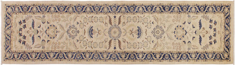 "A09732, 2' 9"" X 13' 2"",Transitiona,3' x 13',Beige,BLUE,Hand-knotted                  ,Pakistan   ,100% Wool  ,Runner     ,652671179600"