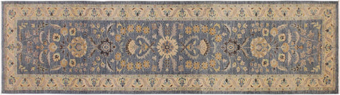 "A09743, 2'10"" X 11'10"",Transitional                  ,3' x 12',Grey,IVORY,Hand-knotted                  ,Pakistan   ,100% Wool  ,Runner     ,652671179648"