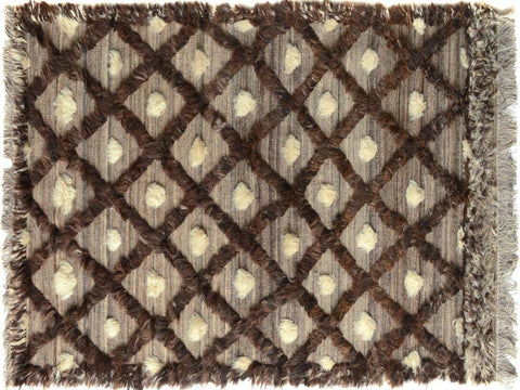 "A09783, 3'10"" X  6' 0"",Modern                        ,4' x 6',Tan,BROWN,Hand-knotted                  ,Pakistan   ,100% Wool  ,Rectangle  ,652671182129"