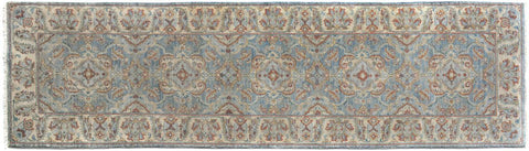"A09790, 2'10"" X  9' 9"",Transitiona,3' x 10',Blue,IVORY,Hand-knotted                  ,Pakistan   ,100% Wool  ,Runner     ,652671179945"
