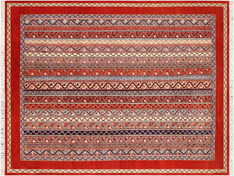 "A09799, 8'11"" X 12' 0"",Transitional                  ,9' x 12',Rust,RED,Hand-knotted                  ,Pakistan   ,100% Wool  ,Rectangle  ,652671181634"