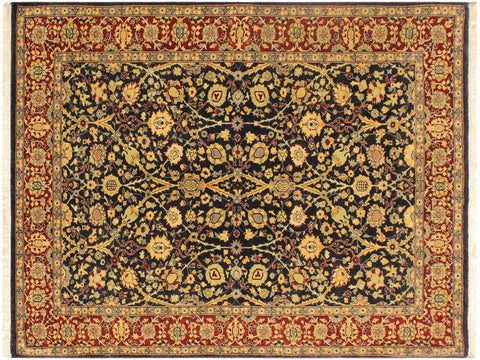 "A09832, 4' 1"" X  6' 1"",Transitional                  ,4' x 6',Blue,RED,Hand-knotted                  ,Pakistan   ,100% Wool  ,Rectangle  ,652671180071"