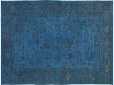 "A09912,11'11"" X 17' 2"",Over Dyed                     ,12' x 17',Blue,BLUE,Hand-knotted                  ,Pakistan   ,100% Wool  ,Rectangle  ,652671180354"