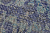 handmade Modern Oushak Blue Gray Hand Knotted RECTANGLE 100% WOOL area rug 10x14 Hand knotted indoor modern contemporary area rug made for all rooms with high-quality wool in beautiful neutral and vibrant color pallet handmade by skilled artisans in Modern Ikat Abstract Grass Oushak Broken design is known for quality and affordability Oriental handmade rug offered at a cheap discount for any decor