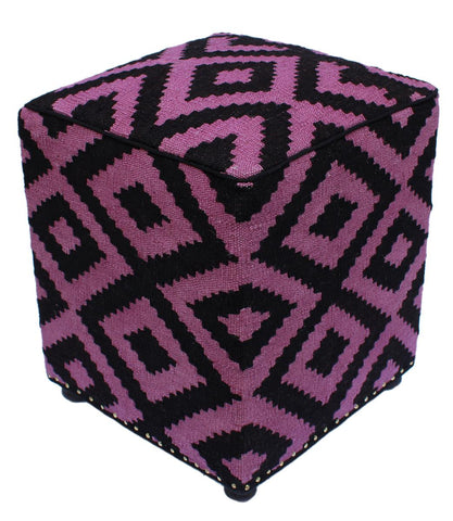 P01968,Over Dyed                     ,,Black,PURPLE,Hand-made                     ,Pakistan   ,100% Wool  ,Rectangle  ,652671218064