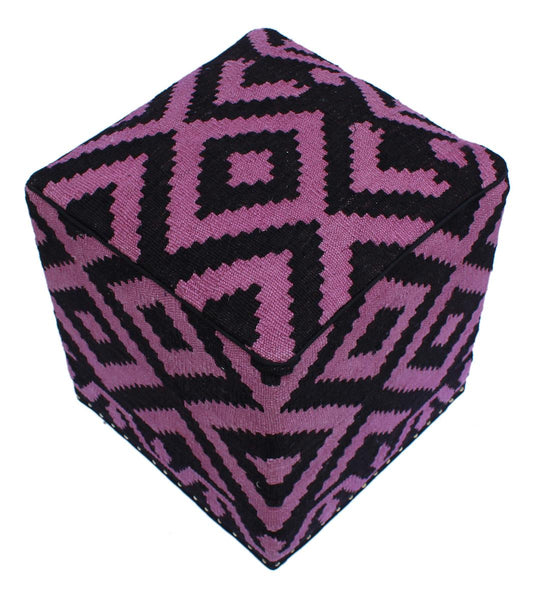 P01969,Over Dyed                     ,,Black,PURPLE,Hand-made                     ,Pakistan   ,100% Wool  ,Rectangle  ,652671218071
