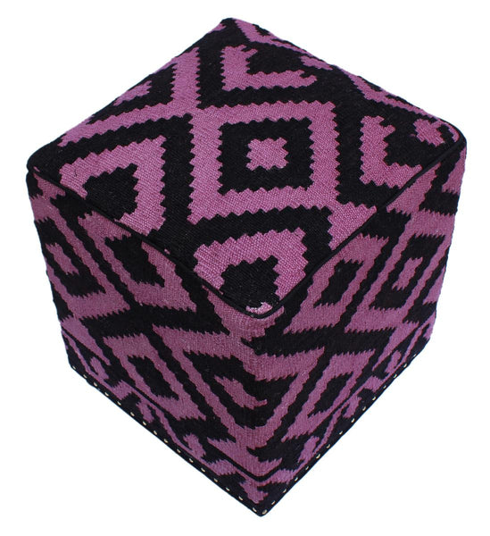 P01970,Over Dyed                     ,,Black,PURPLE,Hand-made                     ,Pakistan   ,100% Wool  ,Rectangle  ,652671218088