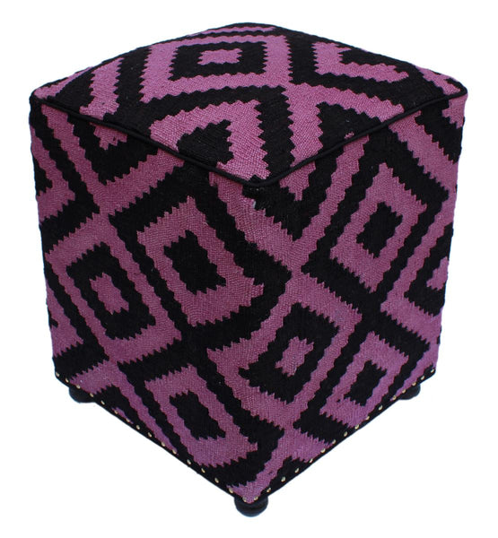 P01971,Over Dyed                     ,,Black,PURPLE,Hand-made                     ,Pakistan   ,100% Wool  ,Rectangle  ,652671218095