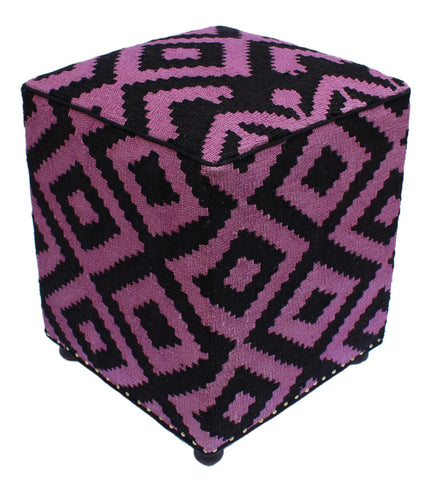 P01973,Over Dyed                     ,,Black,PURPLE,Hand-made                     ,Pakistan   ,100% Wool  ,Rectangle  ,652671218118