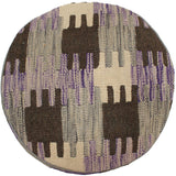 "P02619, 0' 0"" X  0' 0"",Traditional                   ,ODD,Purple,BROWN,Hand-made                     ,Pakistan   ,100% Wool  ,Round      ,652671171062"