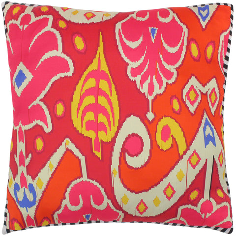 handmade Turkish Throw Pillow Pink Beige  SQUARE SILK area rug