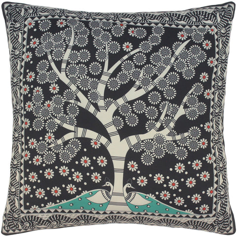 handmade Turkish Throw Pillow Black Beige  SQUARE SILK area rug