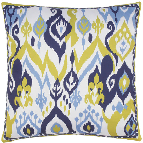 handmade Turkish Throw Pillow Ivory Blue  SQUARE SILK area rug