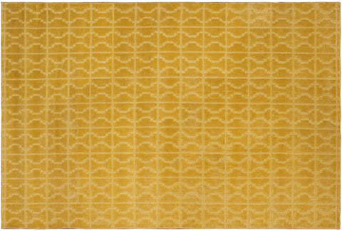 "V902, 5' 2"" X  7'11"",Modern     ,5 x 8,Gold,GOLD,Hand-loomed                   ,India      ,Bamboo Silk,Rectangle  ,652671185434"