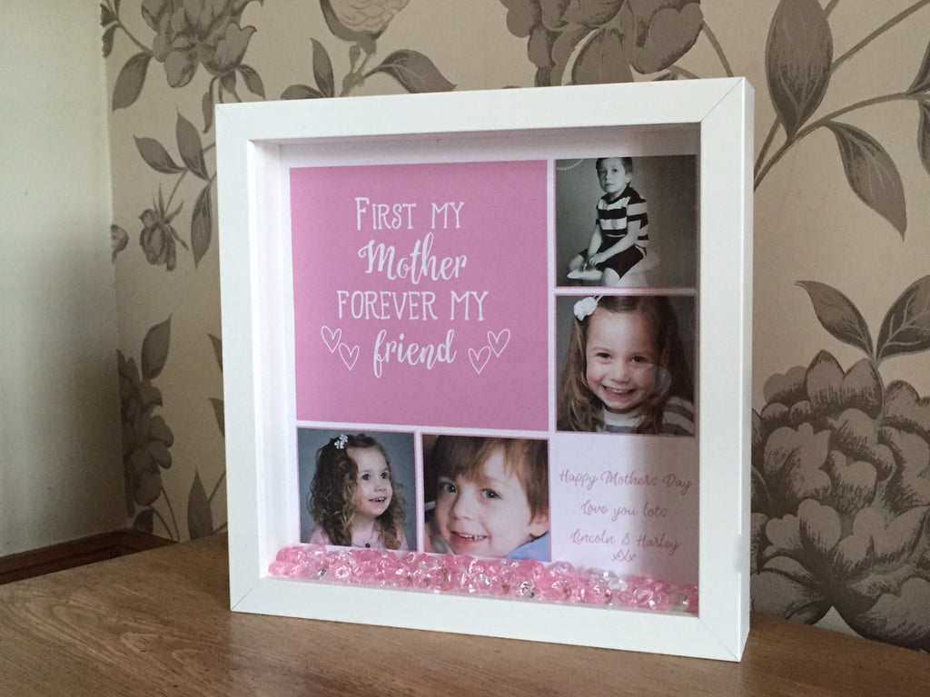 mothers day frame first my mother forever my friend quote frame - Mother Picture Frame