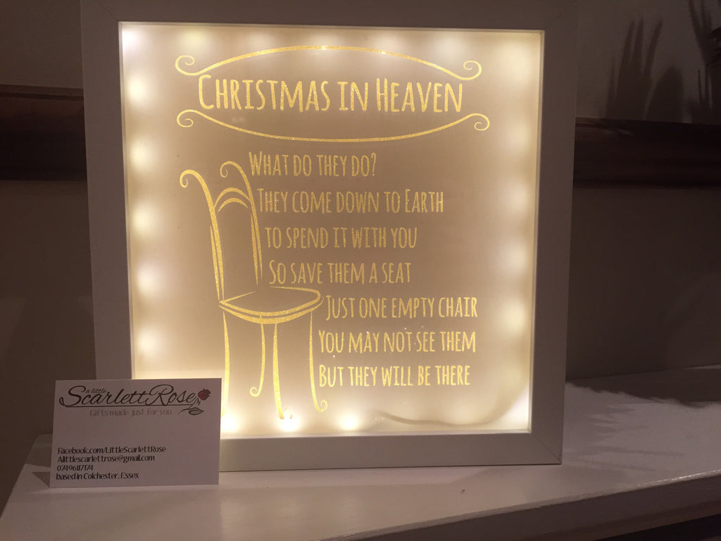 Christmas In Heaven Light Up Frame A Little Scarlett Rose