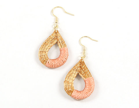 Solta | Golden Grass Pendant Earrings (Color Options)