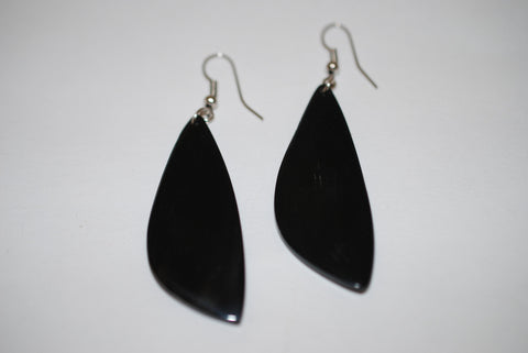 Buffalo Horn Black Drop Earrings