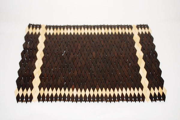 Diamante (Dark) | Wood Weave Placemat