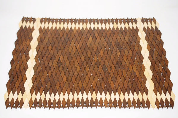 Diamante (Light) | Wood Weave Placemat