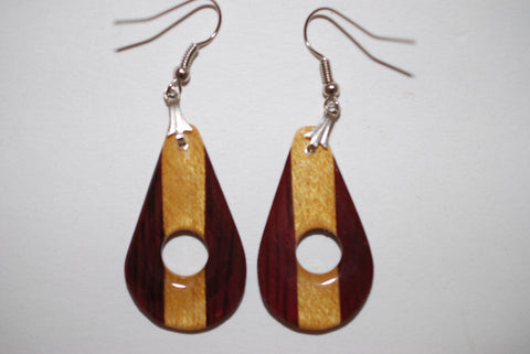 Wooden Hole Drop Earrings