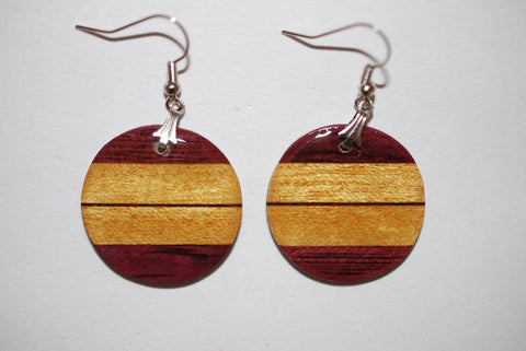 Wooden Simple Circle Earrings
