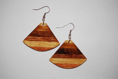 Wooden Hatchet Earrings