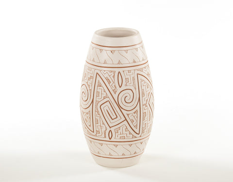 Gravar (Large) | Etched Ceramic Vase