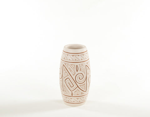 Gravar (Small) | Etched Ceramic Vase